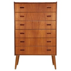 Danish Teak Chest of Drawers, restored