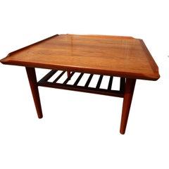 Danish Teak Coffee Table by Holger Georg Jensen for Kubus, 1960s