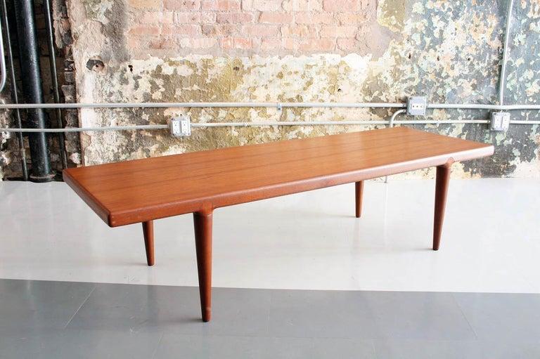 Mid-Century Modern Danish Teak Coffee Table by MK, Denmark For Sale