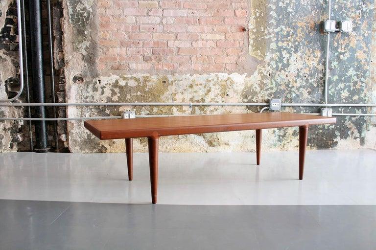 Oiled Danish Teak Coffee Table by MK, Denmark For Sale