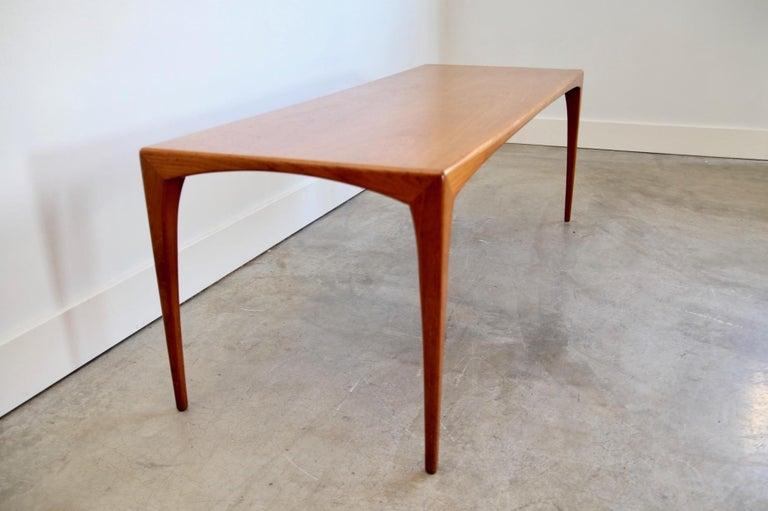Mid-Century Modern Danish Teak Coffee Table For Sale