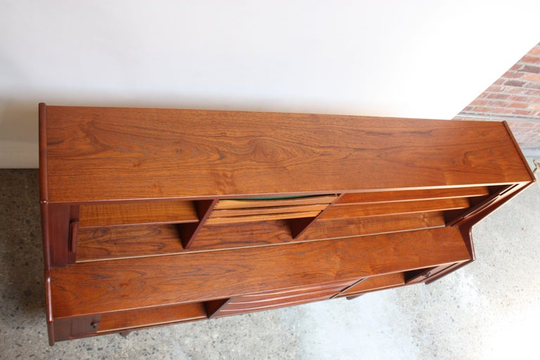 Danish Teak Credenza by IB Kofod-Larsen for Faarup For Sale 1
