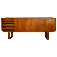 Danish Teak Credenza with Dovetailed Runners by Klausen and Son, circa 1969