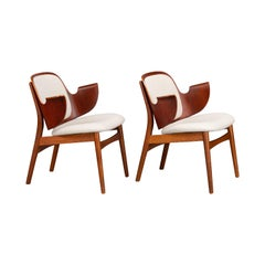 Danish Teak Design Armchairs by Arne Hovmand Olsen for Bramin Møbler, Set of 2