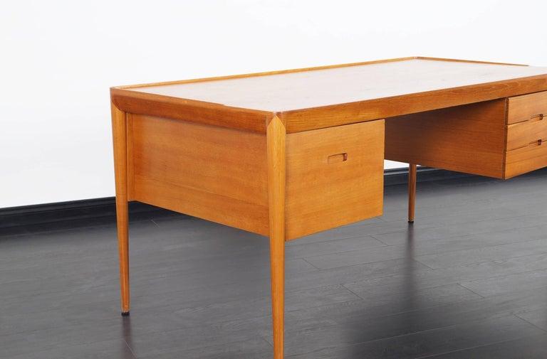 Danish Teak Desk by Erik Riisager Hansen  For Sale 1