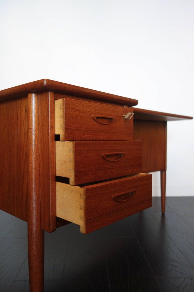 Danish Teak Desk by Peter Løvig Nielsen, 1960s For Sale 9