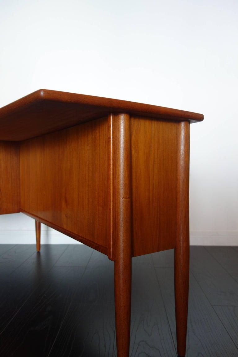 Danish Teak Desk by Peter Løvig Nielsen, 1960s For Sale 1