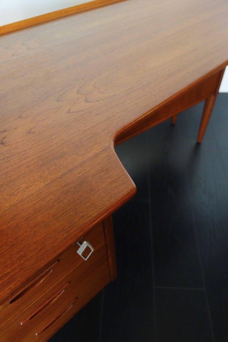 Danish Teak Desk by Peter Løvig Nielsen, 1960s For Sale 2
