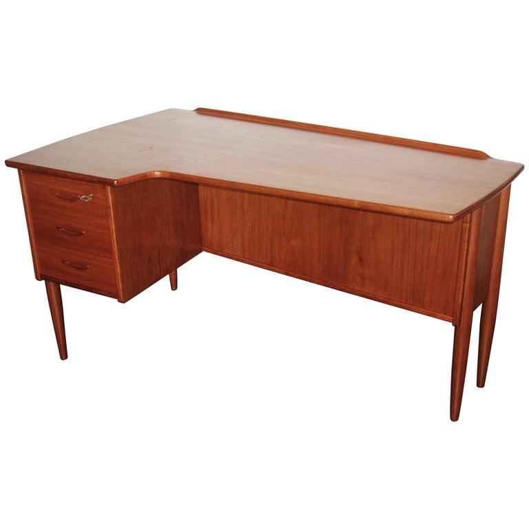 Danish Teak Desk by Peter Løvig Nielsen, 1960s For Sale