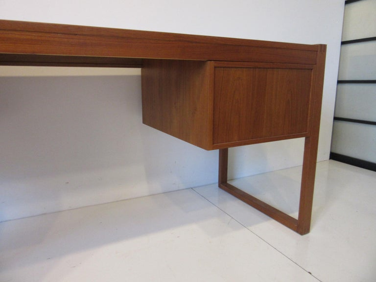 Danish Teak Desk in the Style of Henning Jensen / Torben For Sale 5