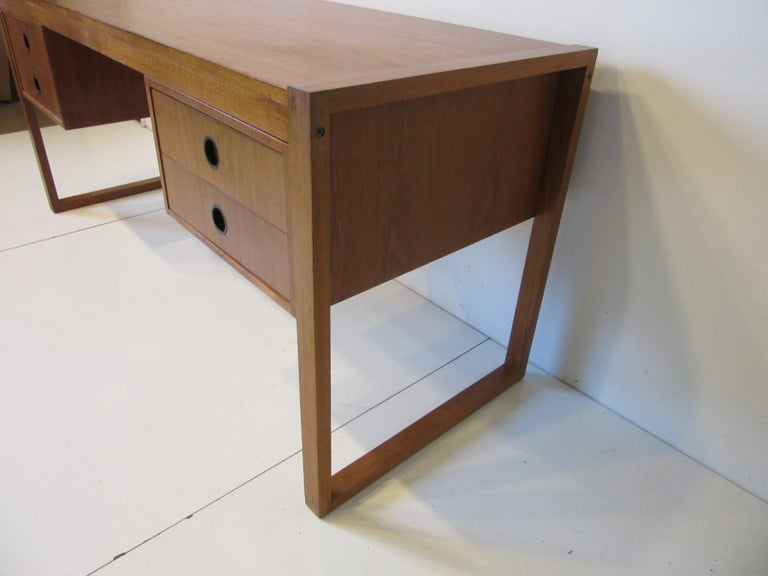 20th Century Danish Teak Desk in the Style of Henning Jensen / Torben For Sale