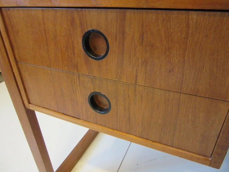 Danish Teak Desk in the Style of Henning Jensen / Torben For Sale 1