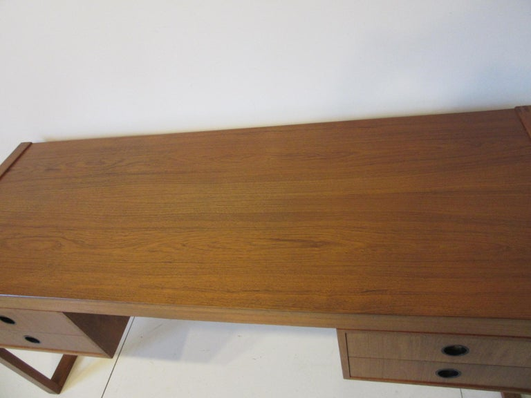 Danish Teak Desk in the Style of Henning Jensen / Torben For Sale 2