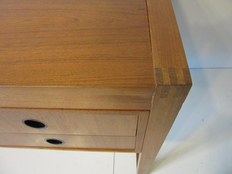 Danish Teak Desk in the Style of Henning Jensen / Torben For Sale 3