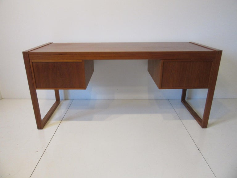 Danish Teak Desk in the Style of Henning Jensen / Torben For Sale 4