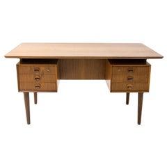 Danish Teak Desk with Floating Top