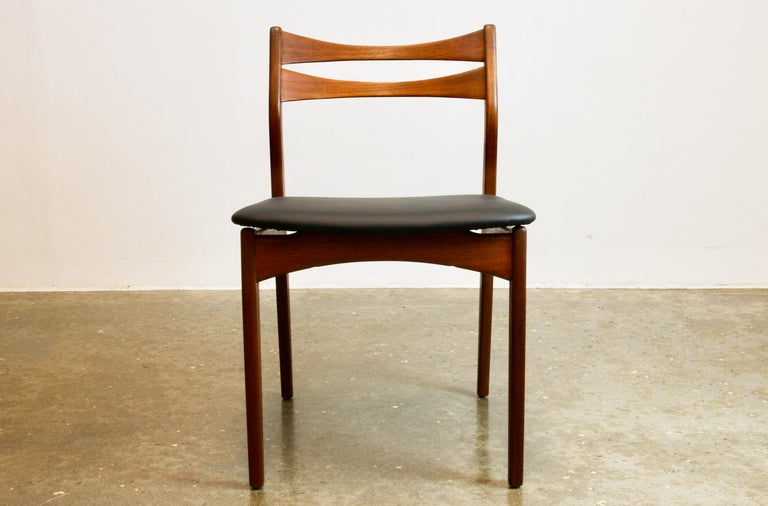 Danish teak dining chairs 1960s Set of 4.