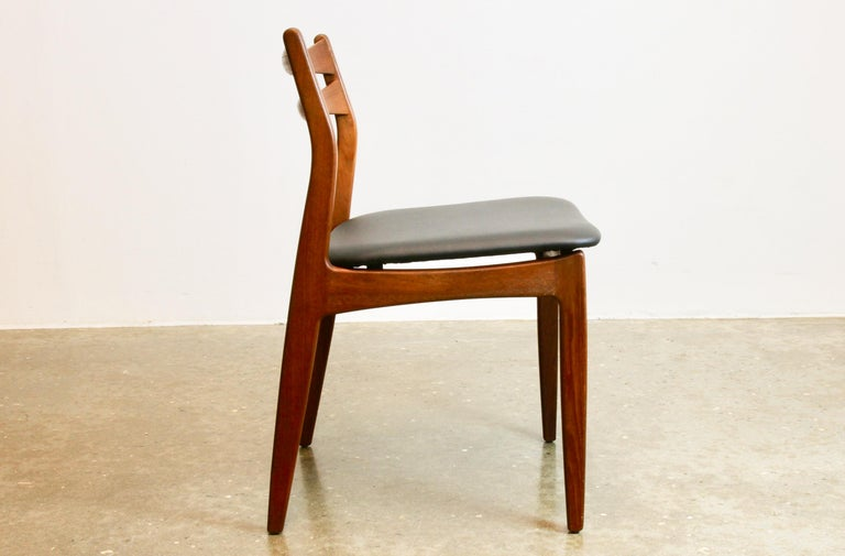 Scandinavian Modern Danish Teak Dining Chairs 1960s Set of 4 For Sale
