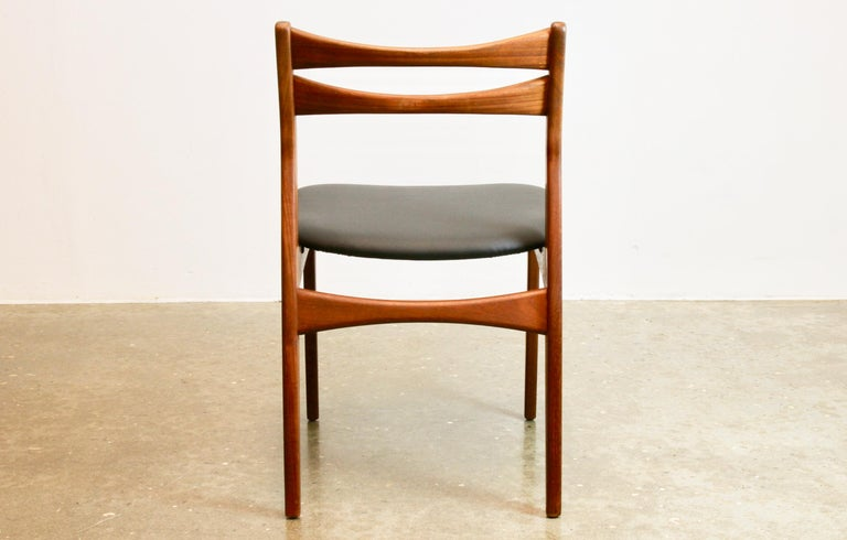 Mid-20th Century Danish Teak Dining Chairs 1960s Set of 4 For Sale