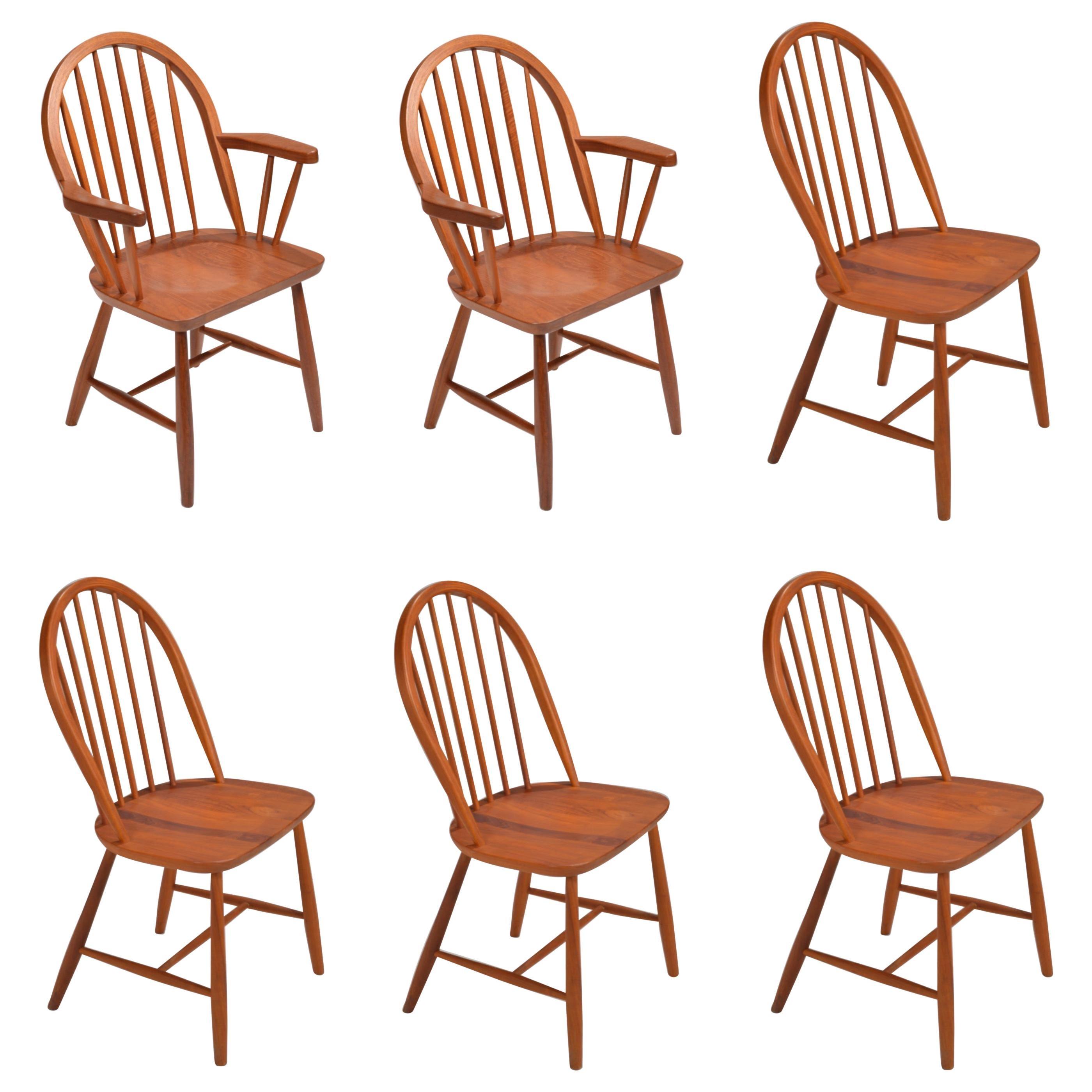 Danish Teak Dining Chairs by Erik Ole Jørgensen for Tarm Stole