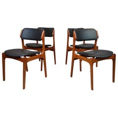 Danish Teak Dining Chairs Erik Buch, Denmark, 1960s