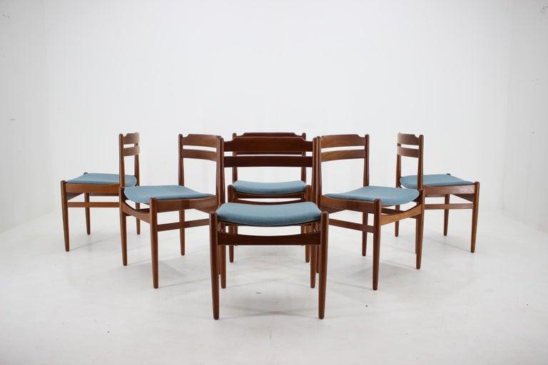 Veneer Danish Teak Dining Chairs from Sorø Stolefabrik, 1960s, Set of 6
