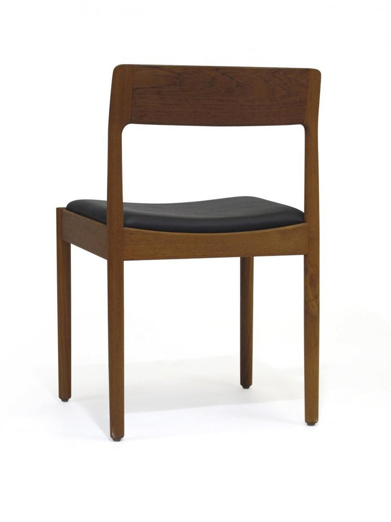 Scandinavian Modern Danish Teak Dining Chairs, Set of 4 For Sale