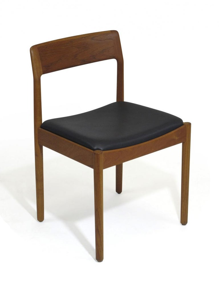 Danish Teak Dining Chairs, Set of 4 For Sale 1