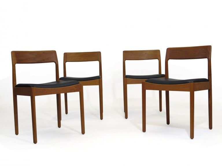 Danish Teak Dining Chairs, Set of 4 For Sale 2