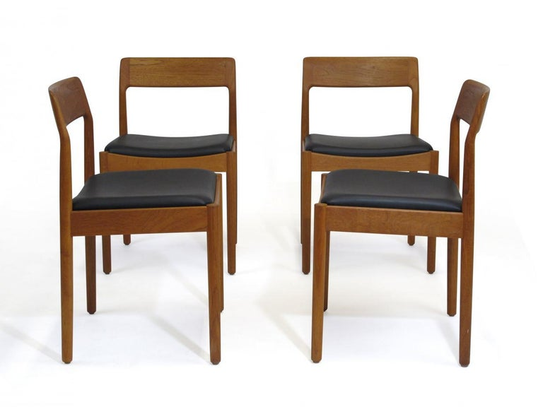 Danish Teak Dining Chairs, Set of 4 For Sale 3
