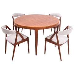 Danish Teak Dining Room Set with Johannes Andersen Table with Model 31, Chairs