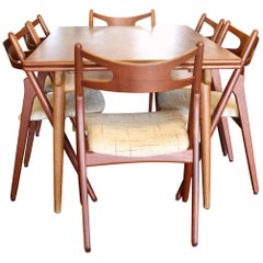 Danish Teak Dining Set by Hans J. Wegner, 1960s