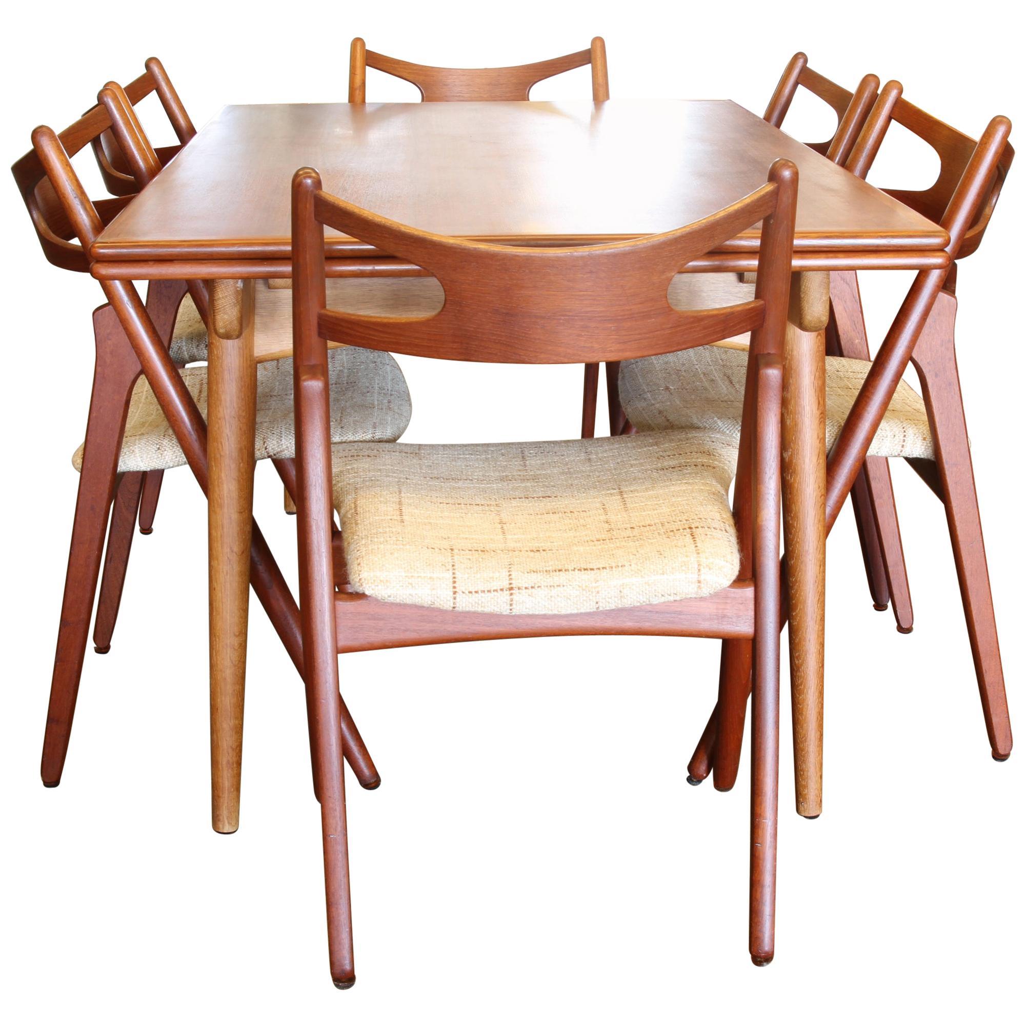Danish Teak Dining Set By Hans J. Wegner, 1960s