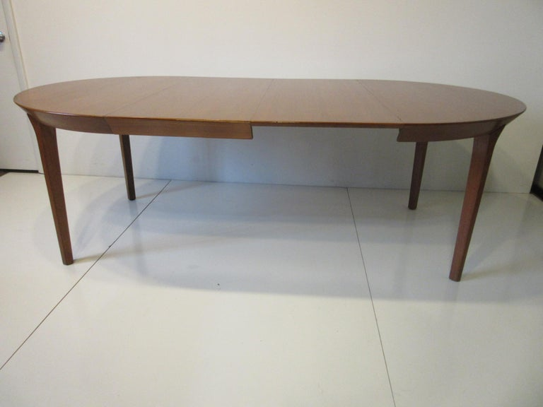 Mid-Century Modern Danish Teak Dining Table by Ole Hald for Gudme Mobelfabrik For Sale