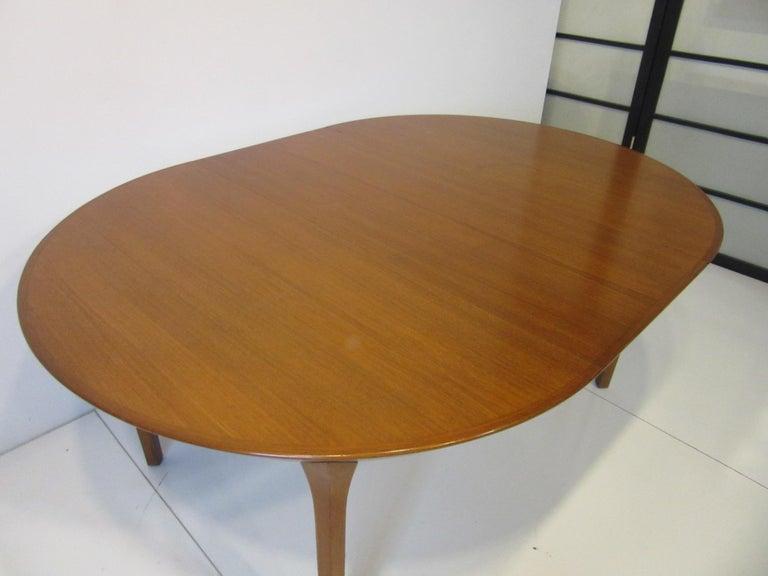 Danish Teak Dining Table by Ole Hald for Gudme Mobelfabrik For Sale 2