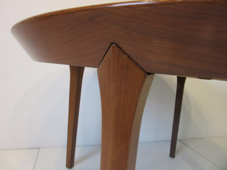 Danish Teak Dining Table by Ole Hald for Gudme Mobelfabrik For Sale 3