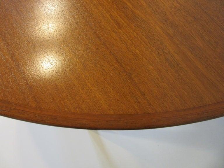 Danish Teak Dining Table by Ole Hald for Gudme Mobelfabrik For Sale 4
