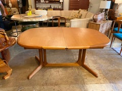 Danish Teak Dining Table with Two Leaves