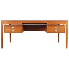 """Danish Teak """"Diplomat"""" Desk by Finn Juhl"""