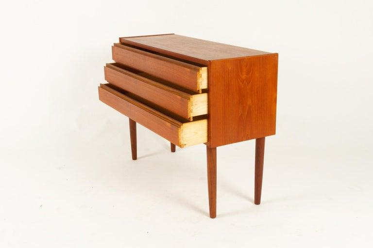 Danish Teak Dresser, 1960s For Sale 3