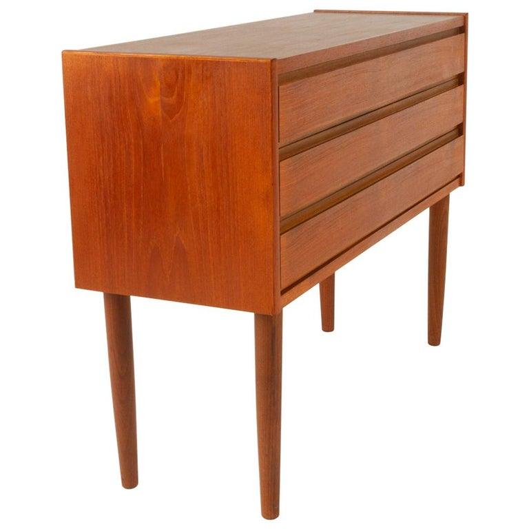 Danish Teak Dresser, 1960s For Sale