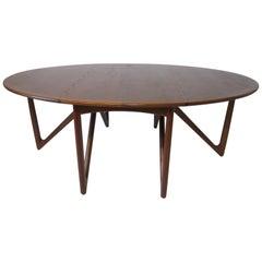 Danish Teak Drop Leaf Dining Table by Hvidt & Molgaard-Nielsen / Koefoed