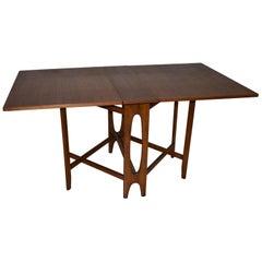Danish Teak Drop-Leaf Table Style of Attributed Bruno Mathsson