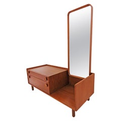 Danish Teak Entry / Hall Table with Mirror, circa 1960s