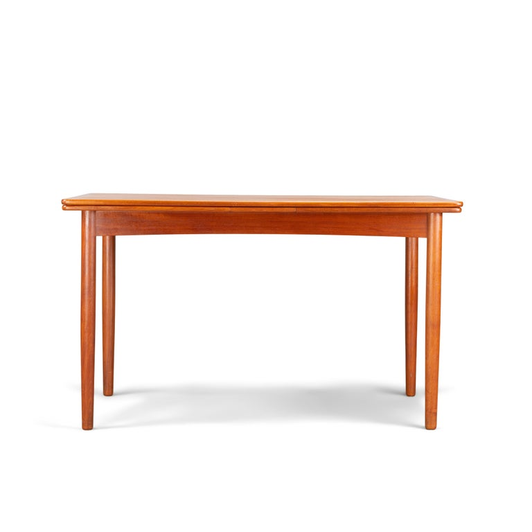 Veneer Danish Teak Extendable Dining Table, 1960s For Sale