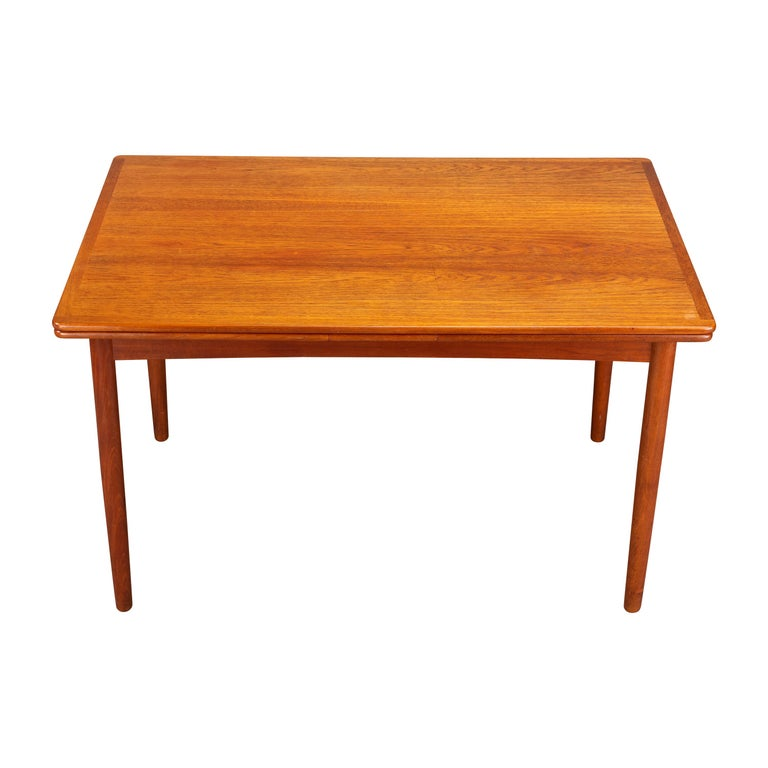 Danish Teak Extendable Dining Table, 1960s For Sale
