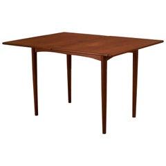 Danish Teak Flip Top Dining Table by Borge Mogensen