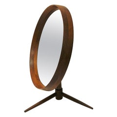 Danish Teak Flip-Top Table Mirror by Pedersen & Hansen, Denmark, 1960s