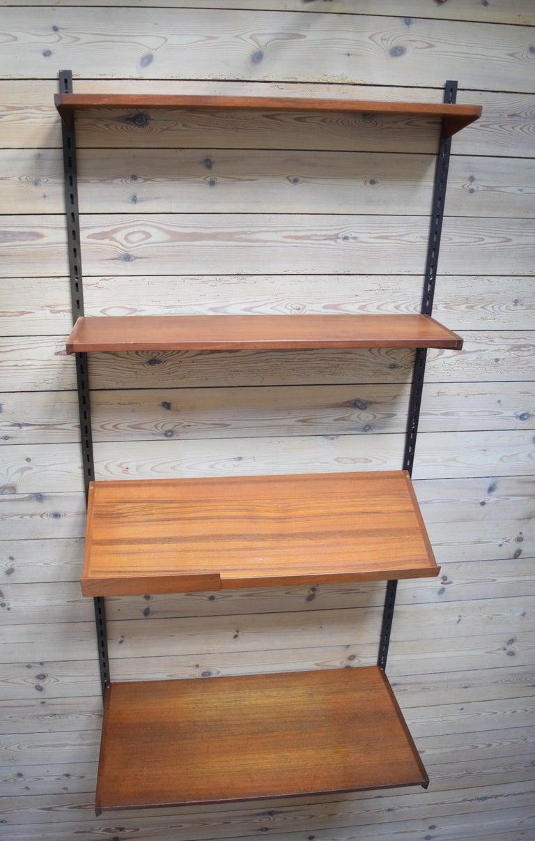 Danish Teak Fm Shelving Wall or System by Kai Kristiansen, 1960s For Sale 1