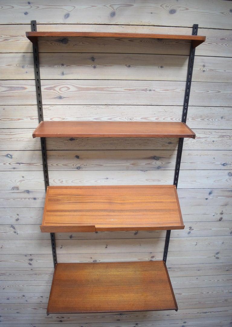 Danish Teak Fm Shelving Wall or System by Kai Kristiansen, 1960s For Sale 2